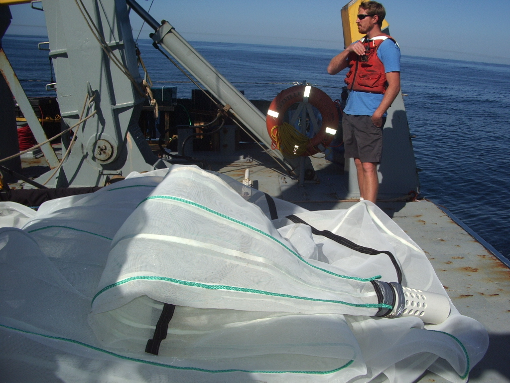 This is another sampling method: the trawl.  That's Jim the RES/TECH.